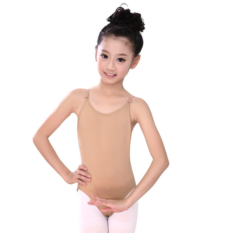 New Children Adult Sexy Seamless Camisole Skin Gymnastics Leotard Girls Kids Dance Ballet Underwear Nude Leotard