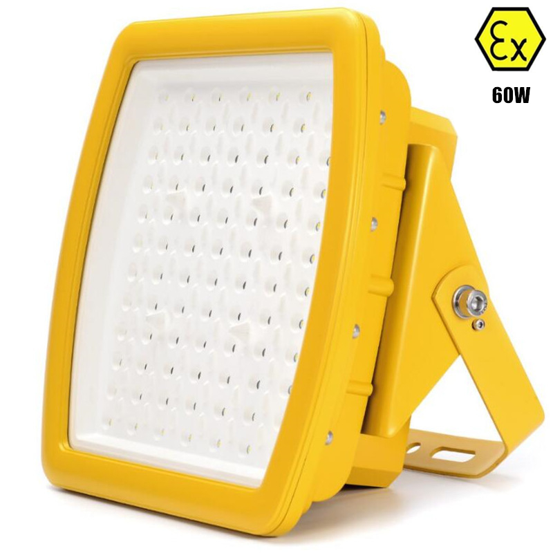 IECEX ATEX UL anti explosive led floodlight 60W AC110v 220v 230v 240v class I zone 1 60W explosion proof led flood light