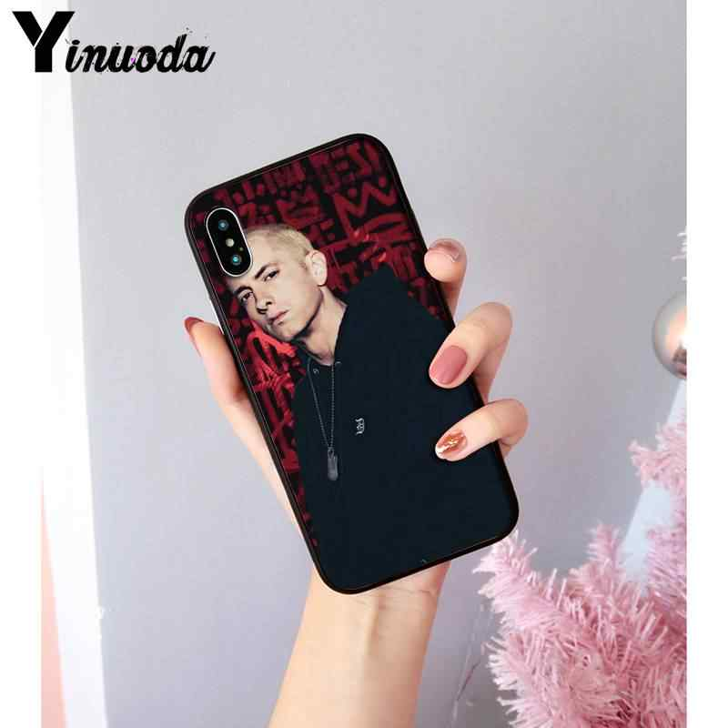 Yinuoda Hip Hop Rapper Eminem rap Coque Shell Telefoon Case Voor iPhone 8 7 6 6S Plus X XS MAX 5 5S SE XR Cover 11 11pro 11promax