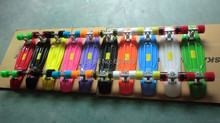 free shipping 22″ 2015 Mini Plastic Skateboard  10pcs color decks+color trucks +color wheels by Global DHL