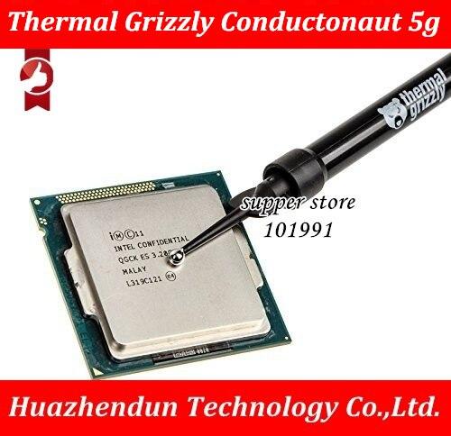 Thermique Grizzly Conductonaut 5g PC carte graphique CPU GPU refroidissement liquide métal thermique composé refroidisseur ventilateur thermique graisse/pâte