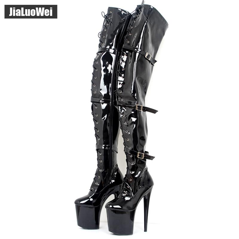 3f2a235d Sandalias de tacón alto fetiche a la moda para mujer correa de tobillo  zapatos de punta