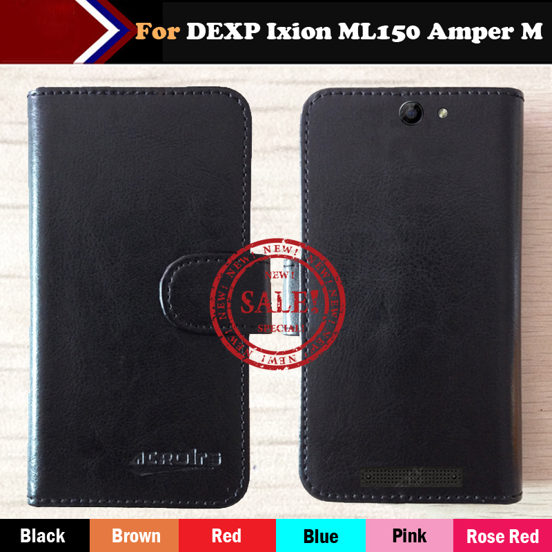 Hot!! DEXP Ixion ML150 Amper M Case Factory Price 6 Color Leather Exclusive For Cover Phone +Tracking