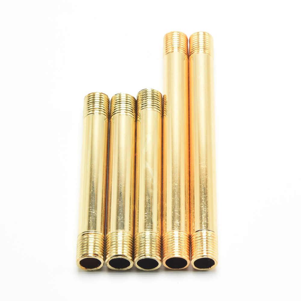 M10 двойной головкой лампа подключения трубы Золото 10 мм мужской Нитки зуб трубки сплав покрытие Освещение Лампы для мотоциклов баз трубы 12 шт.
