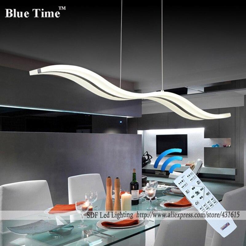 Wow nowe ściemnialne nowoczesne żyrandole ledowe do jadalni sypialnia studyroom żyrandol 110V 220V lampadario z kontrolą