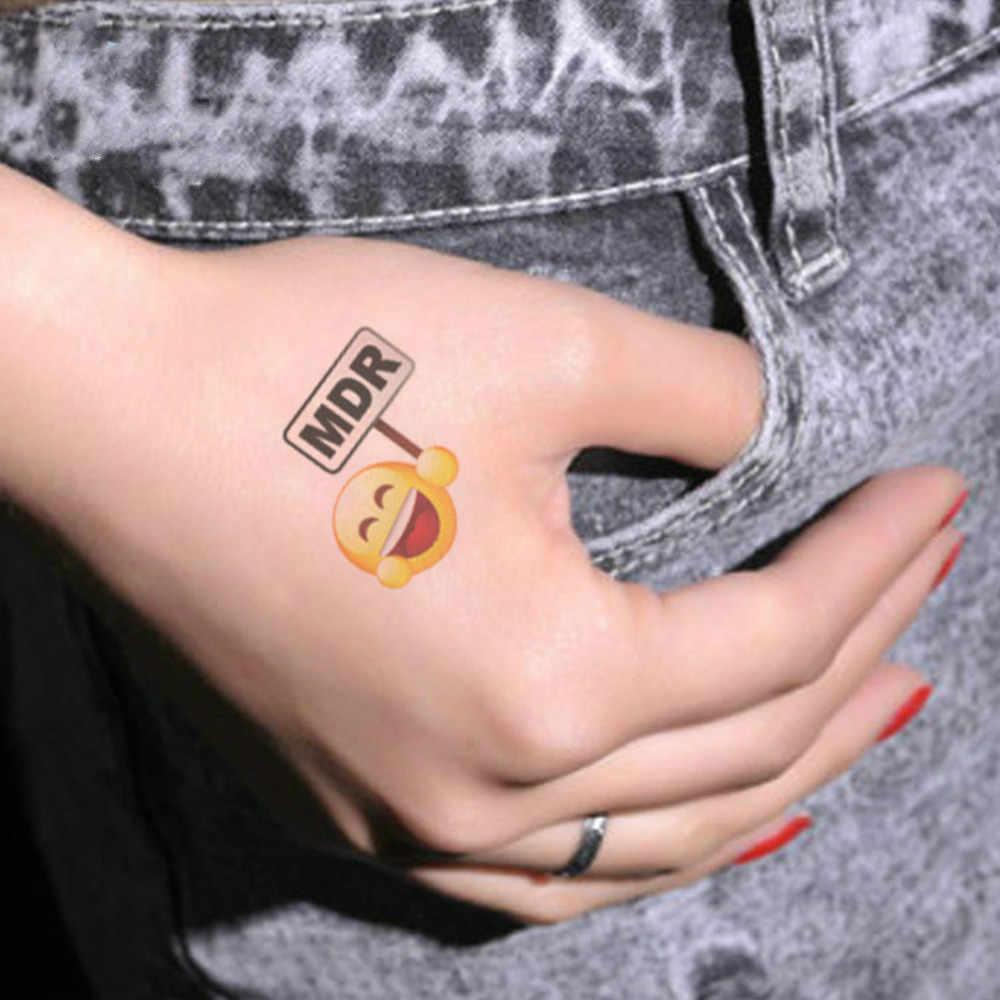 2019 NEW Classic Black Tatoo Cat Bird Fake Tattoo Tatuajes Hand Tatouage Body Waterproof Temporary Tattoos Sticker Small Taty