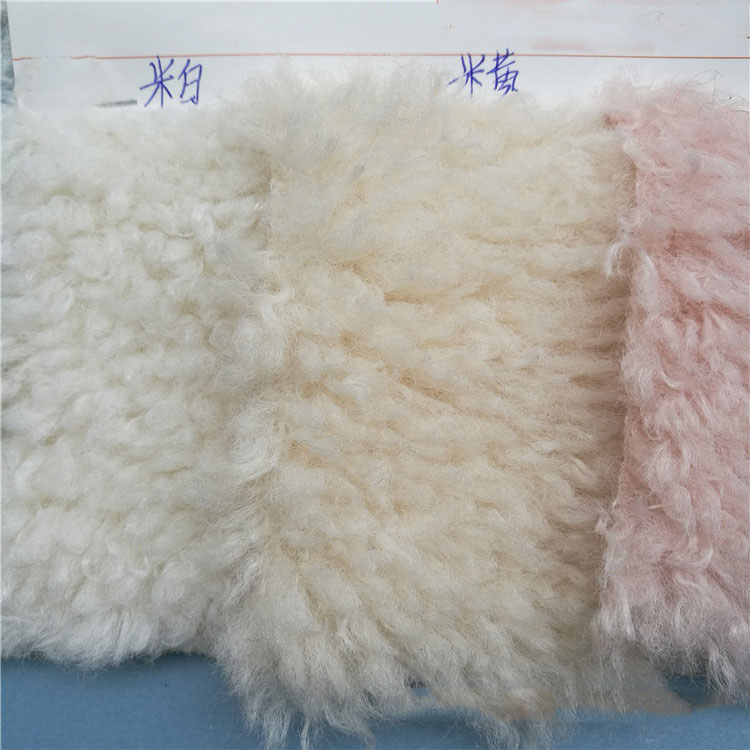 Stock Australian Wool Imitation Alpaca Cashmere Polyester Polyester Plush Artificial Sheep  Curl