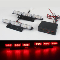 2 X 9LED Grille Flash Automotive Vehicle Warning Light Emergency Lighting EMS Police Truck Car Strobe Light Strobe Lamps Flasher