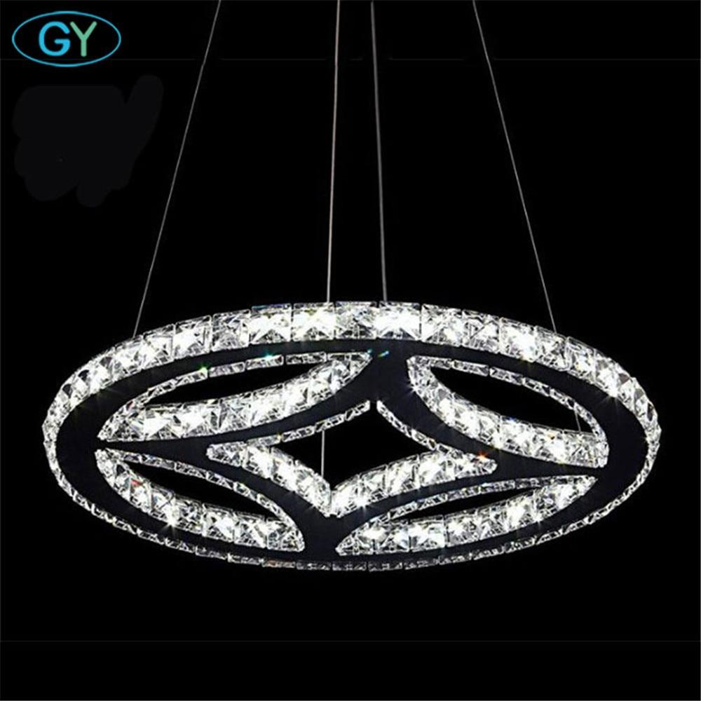 Modern 63W D50cm LED chandelier Chrome K9 crystal lustres para sala de jantar lamp lamparas de techo luminaire for dining room lacoste брюки lacoste hf020103m синий