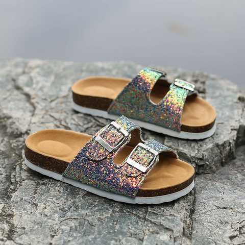 Fashion Cork Sandals 2019 New Women Casual Summer Beach Gladiator Buckle Strap Sandals Shoe Flat with  Size 35-40 Multan