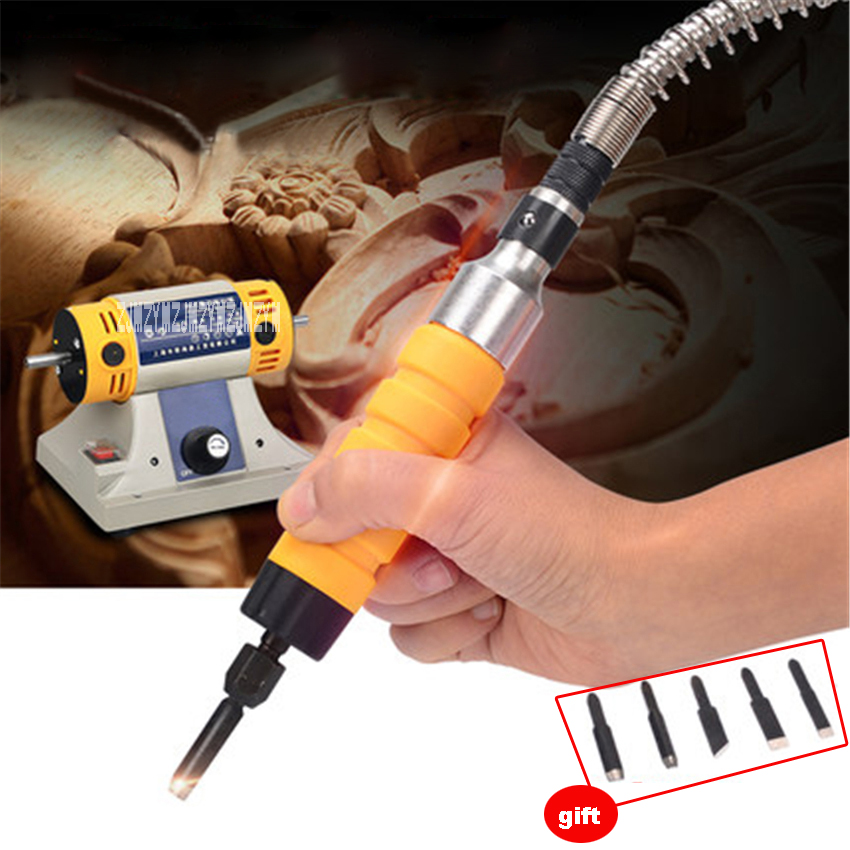 220V 750W Electric Chisel Carving Tools Portable Wood Chisel Carving Machine Woodworking Engraving Machine Send 5 Cutter Heads three blade spiral cutter engraving machine accessories pc chisel cnc engraving machine dedicated