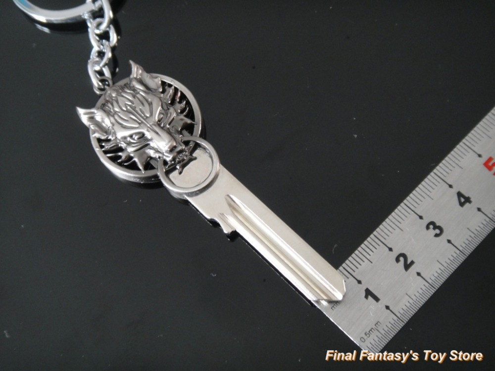 nib final fantasy vii cloud wolf logo uncut spare key blank keychain