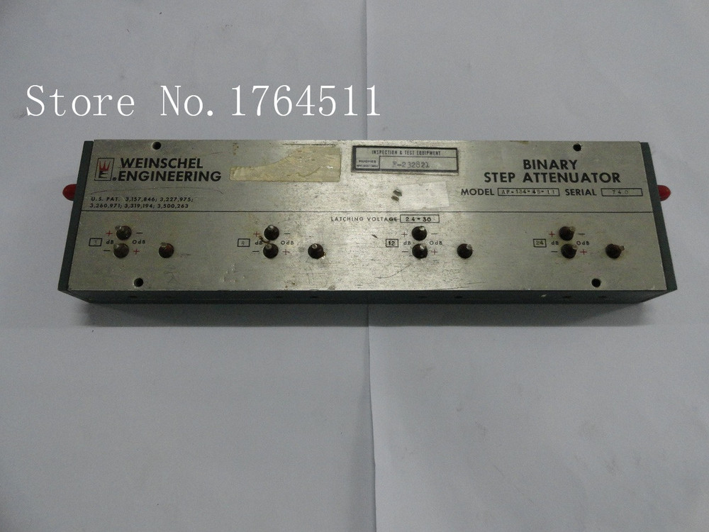 [BELLA] The Programmable Step Attenuator Weinschel AF-134-45-11 45dB 3 GHz