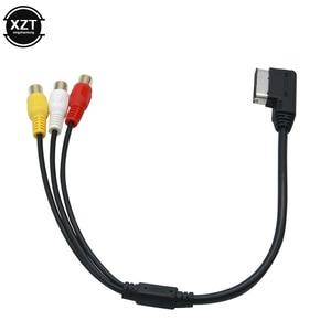 Адаптер кабеля для VW, 1 шт., для Audi AMI AUX, A3, A4, A6, A7, A8, Q5, Q7, R8, AMI, MMI, RCA, 3RCA, DVD, аудио, вход, провод, автомобильный аксессуар