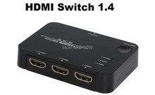 De alta calidad de 3 puertos hdmi 1.4 interruptor 3×1 hdmi switcher splitter audio video converter con ir de control rmote