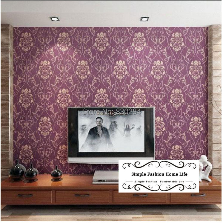ФОТО Modern Flock Floral 3D Wallpapers Home Decor Non-Woven Damask Wall Paper for Walls Background Paper papel de parede floral