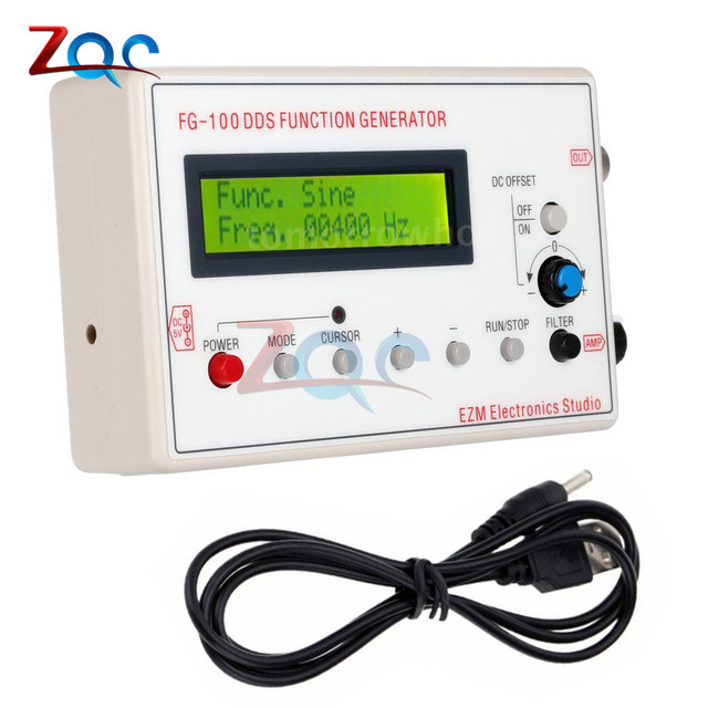 Aliexpress com : Buy 1HZ 500KHZ DDS Functional Signal Generator Sine  Triangle Square Frequency Sawtooth Wave Waveform 1602 LCD Display from  Reliable