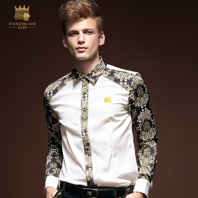 Free Shipping New fashion casual male men's Large size Insert Long Sleeved Shirt autumn personality raglan shirt 14256 FanZhuan