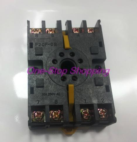 8 Pin Relay Socket Octal Base DIN Rail P2CF-08 New