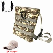 Детектор Металла Находки сумка экскаватора камуфляж талии с Sunhat подарок для металлодетектор сокровище Охота