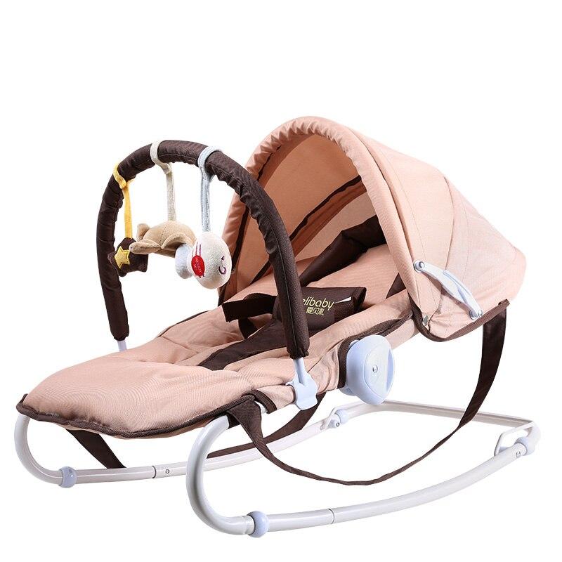 2019 vente directe haut à la mode en métal multi-fonctionnel bébé chaise berçante berceau nouveau-né cadeau bébé lit - 4
