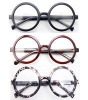 Tamanho grande Oversized Retro Vintage Harry Potter Rodada Armação Dos Óculos Preto Marrom Leopard Optical Óculos Óculos de Prescrição