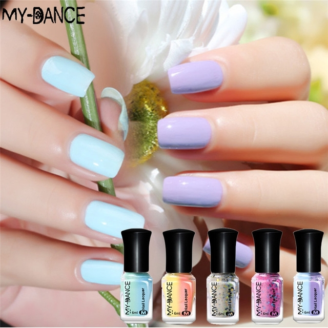 MY Dance Temperature Sunlight Color Chang Varnish Nail Lacquer Peel ...