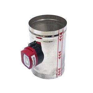 Image 3 - 80mm thép không gỉ không khí giảm chấn van HVAC điện Ống cơ giới Van 3 inch ống thông gió kiểm tra van 220V 24V 12V