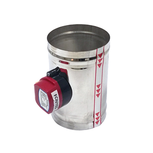 Image 3 - Válvula de compuerta de aire de acero inoxidable, HVAC conducto eléctrico de 80mm, válvula de retención de conducto de ventilación de 3 pulgadas, 220V, 24V, 12V
