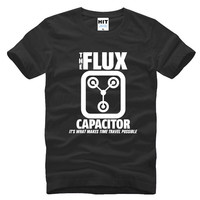 Back To The Future Flux Capacitor Printed Mens Men T Shirt Tshirt 2016 New Short Sleeve