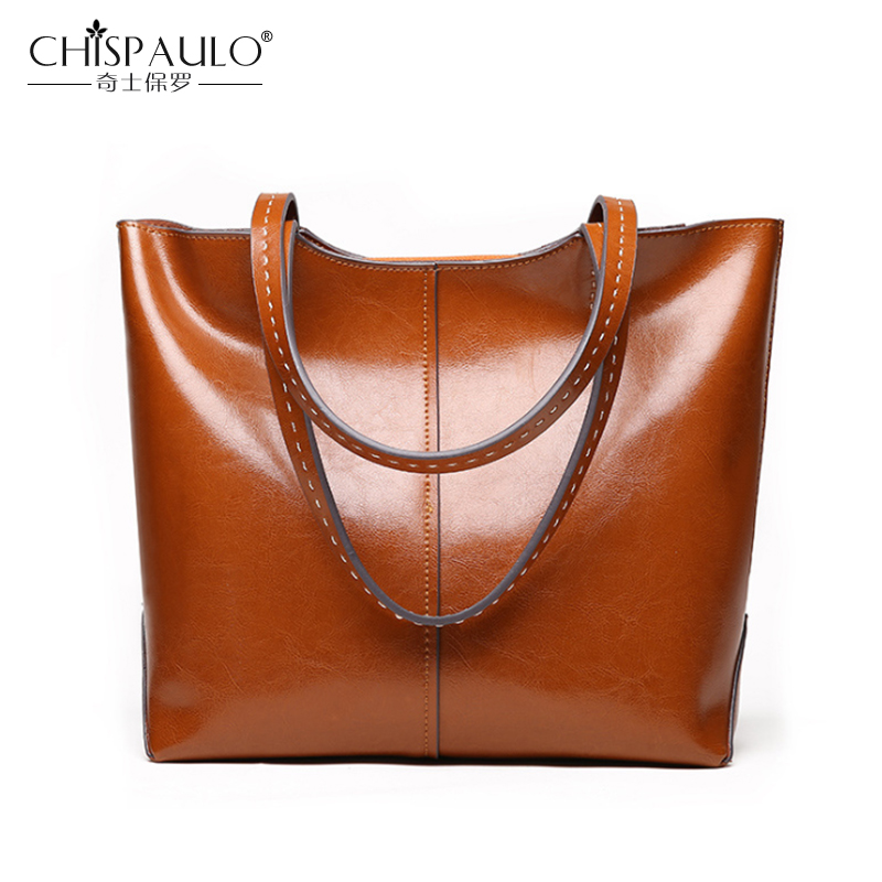 Genuine Leather Women Bags Large Capacity Ladies Handbags High Quality Natural  Leather Shoulder Bag Female Casual Tote 207f4884cf64f