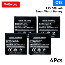 купить Q18 Spare Li-ion Li-Po Lithium Polymer Batteries 3.7V 500MAH Rechargeable Lithium Battery For Q18 Smart Watch Replacement дешево