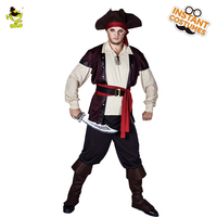 New Arrival Adult Men's Pirate Costume Role Play Carnival Party Pirate Character Fancy Dress The Halloween Performance Pirates