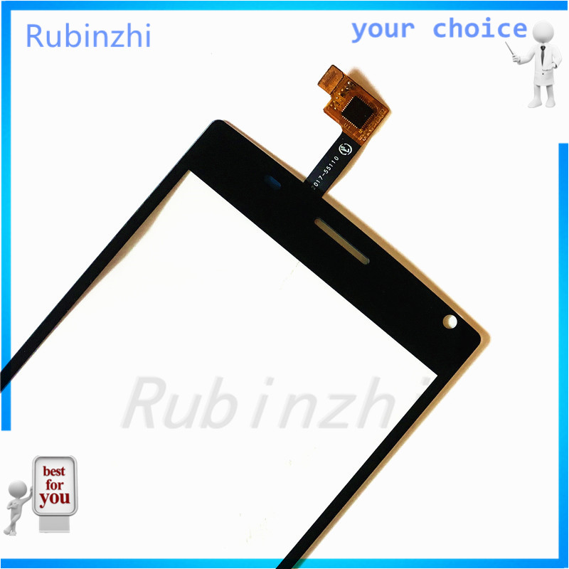 RUBINZHI  Phone Touch Screen Panel For MegaFon MFLoginPh Login Plus Touchscreen Digitizer Front Glass Replacement Sensor+tape Islamabad
