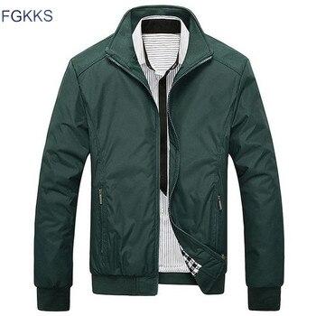 FGKKS New Spring Fashion Jacket Men Loose Casual Mens Jacket Sportswear Bomber Jacket Mens jackets And Coats 1