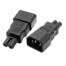 Адаптер переменного тока AC Преобразовать IEC C14 к C7 адаптер питания C14/C7 IEC C7 к C14 переходник IEC 3Pin женский 2Pin мужской # WPT604