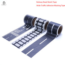 Masking-Tape Railway Road-Adhesive Traffic Creative Wide for Kids Toy Car-Play 1roll