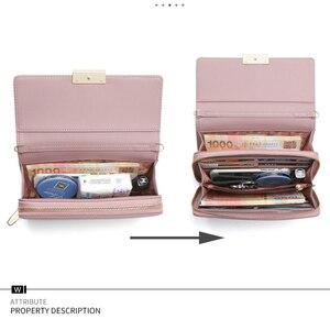 Image 4 - WEICHEN 真新しいマルチ関数 a の女性のショルダーバッグ & クラッチ大容量革の女性の財布財布メッセンジャーバッグ女性新しい
