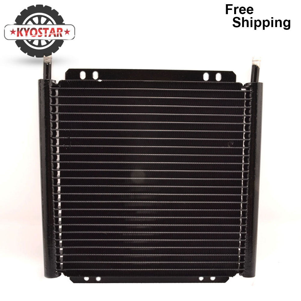 new transmission oil car cooler 25 Row Engine Oil cooler Kit Aluminum Accessories Automatic Stacked Plate