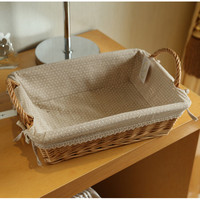 European Handmade Woven Basket Sundries Toys Wicker Storage Basket Container Willow Knitted Storage Organizer Holder