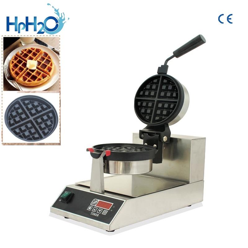 Machines à grignoter commerciale LED Électrique Numérique mini tourner 4 pièces gaufrier Rotatif Waffe Fabricant Fer Machine Baker