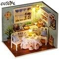 Handmade Doll House Furniture Miniatura Diy Doll Houses Miniature Dollhouse Wooden Toys For Children Grownups Birthday Gift H08