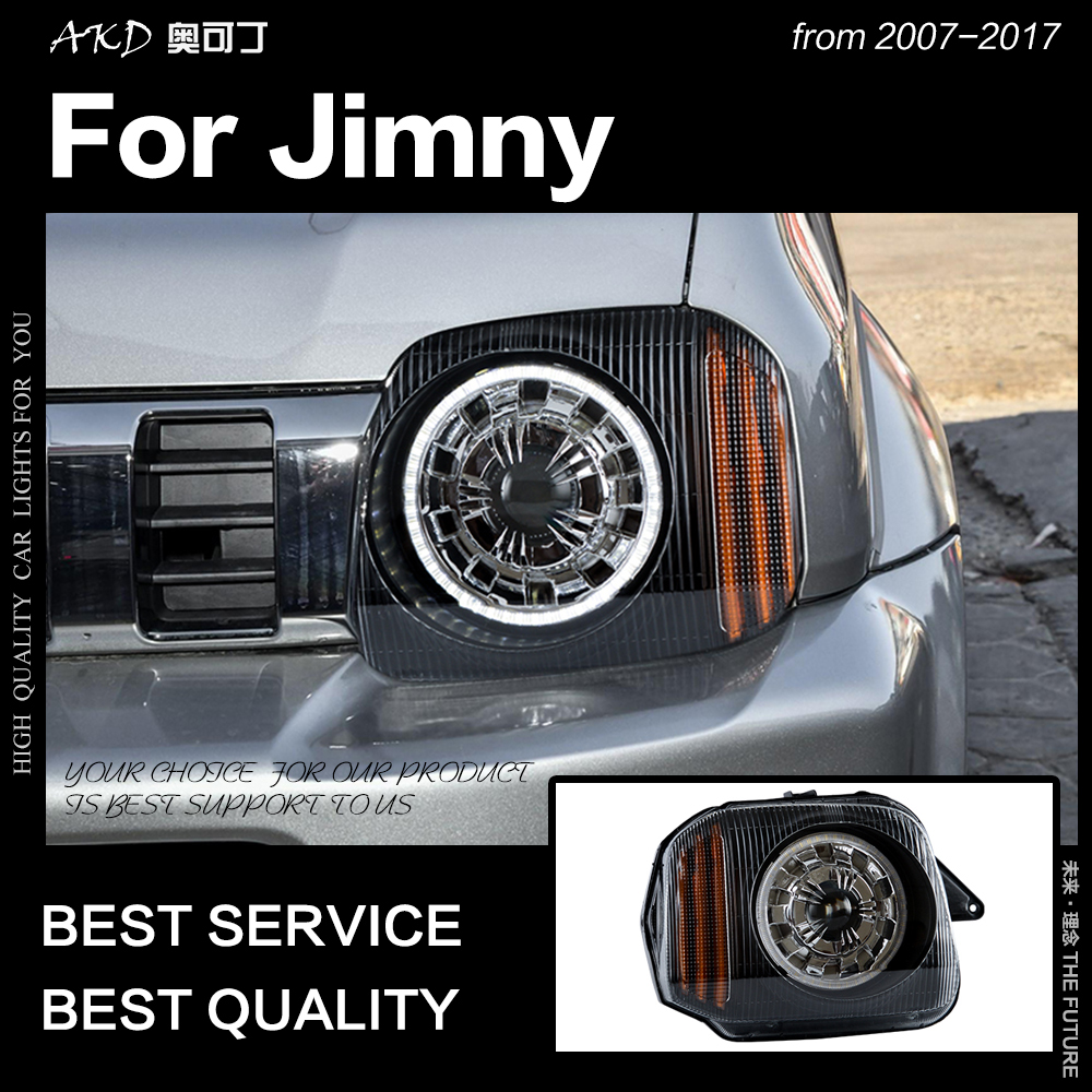 AKD Car Styling Head Lamp for Suzuki Jimny Headlights 2007 2017 Jimny LED Headlight DRL Signal