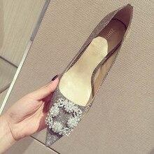США Размер Мода Серебряный Блестками Ткань Bling Bling Острым Носом Высокие Каблуки Женщины Сексуальная Невеста Прополка Обувь