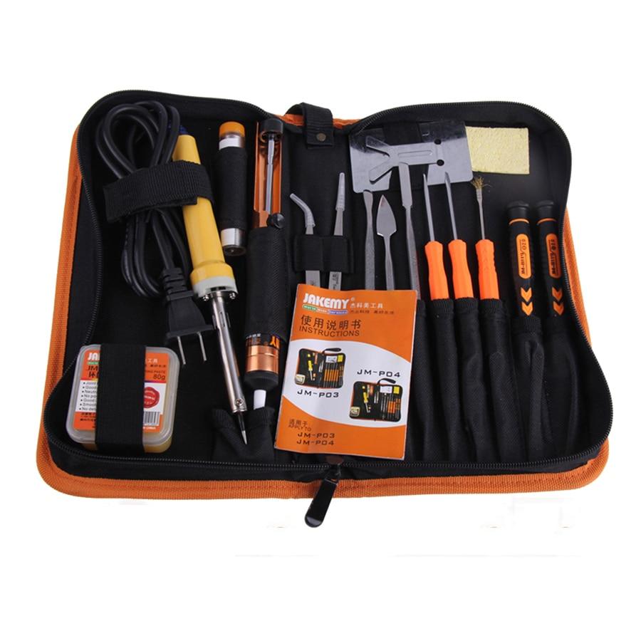 30W Jakemy JM-P04 DIY Welding Soldering Tool Set Electric Soldering Iron (US plug) & Phillips screwdriver set & tweezer