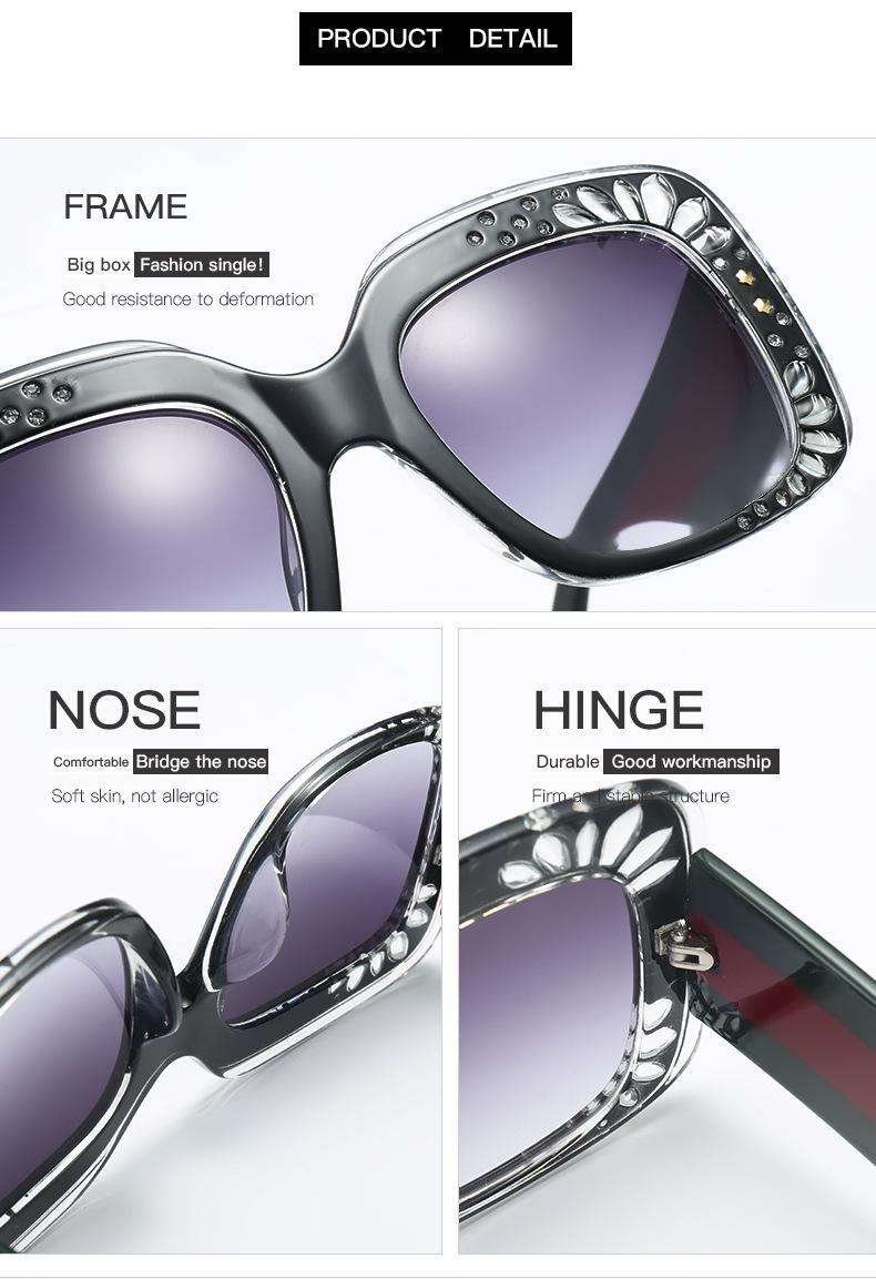 HTB1OMw5blfH8KJjy1Xbq6zLdXXac - Oversize Square Frame Rhinestone Sunglasses 2018 - Trending Fashion