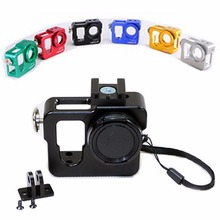 6 Colors Aluminium Protective Housing Case Shell+UV Filter Lens+Wrist Strap For GoPro 4 Camcorder Accessories Case