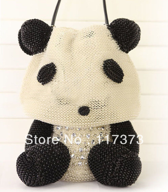 Nuevo Panda bolsa / bolso tejido / bolso Rhinestone paquete ...