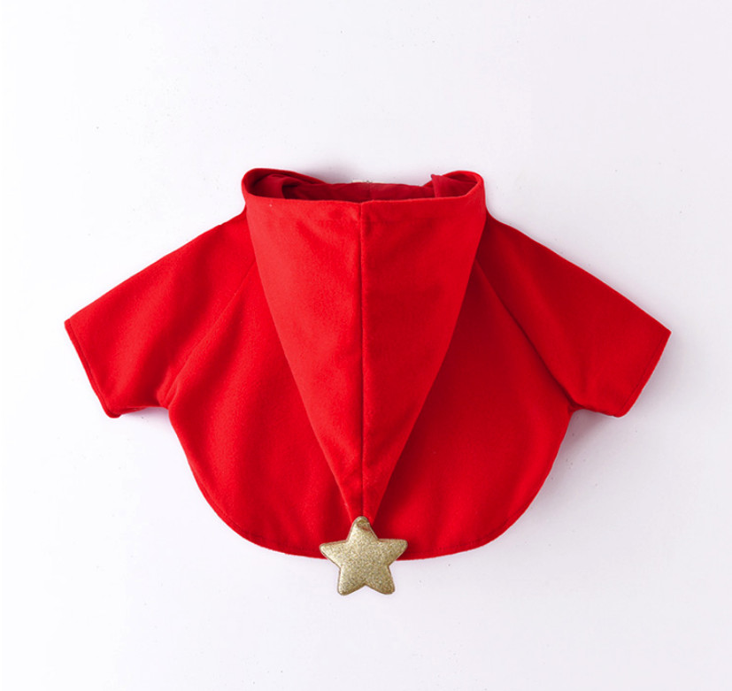 new baby girls winter coats cute christmas red cloak jackets for children clothes kids toddler cloak type jacket for 18m 6t - Christmas Jackets