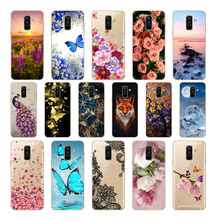 Soft silicon para for Samsung Galaxy A6 2018 Dual SIM SM A600 A600F pintado telefono caso samsung Galaxy A6 2018 a6 2018 cases цена и фото